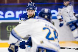 Jesper Kandergård manca da tempo dalla rosa del Leksand a causa di un grave infortunio, ma ora è pronto a tornare.  Foto: Daniel Erickson/Bildeberan