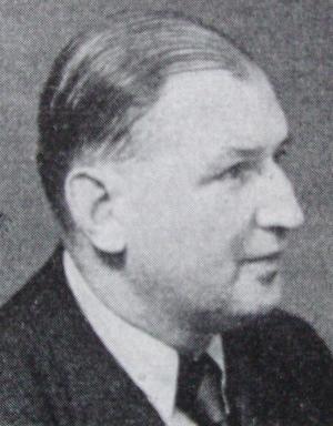 Filosofen och folkhögskolerektorn Alf Ahlberg 1957. Foto: Okänd