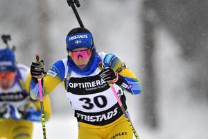 Foto:  Nisse Schmidt / TT. Det blev en tuff dag i spåret för Anna Magnusson.