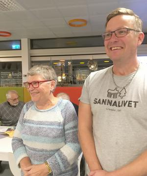 Maud Nygaard och Per Eliasson ärtvå glada nyvalda ersättare till styrelsen för Krokoms Byförening. Foto: Göte Norlander