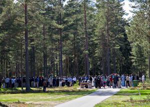 På Skogskyrkogården i Gävle finns ett speciellt område för muslimska begravningar.