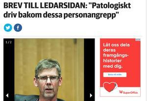 Landstingsrådet Gunnar Barke (S) svarade för ett rejält retoriskt övertramp.