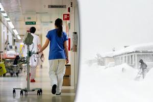 Skribenten hyllar personalen på Sundsvalls sjukhus som valde att sova över på jobbet i snökaoset. Bild: Mårten Englin / Maria Eilertsen