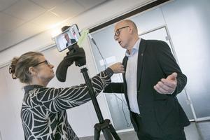 ÖP:s reporter Maria Lindholm och Bosse Svensson.