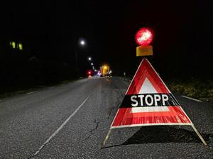 OBS: Bilden är tagen vid en annan olycka.