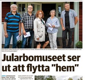 Faksimil ur Avesta Tidning 20 augusti 2018.