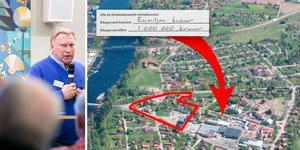 Näringslivschef Per Strid köpte för ett år sedan en fastighet som ligger 200 meter från exploateringsområdet i Åkerö.