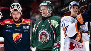 Adam Reideborn, Ryan Lasch och Elias Pettersson kan bli årets MVP. Foto: Adam Eriksson/Michael Erichsen/Kenta Jönsson (Bildbyrån).