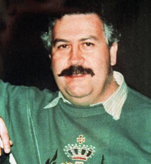Colombianske knarkkungen Pablo Escobar, 1991. Två år senare dödades han under en flykt från polisen. Netflix-serien