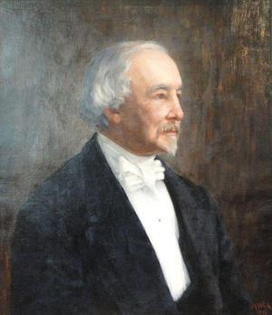 Porträtt av Zacharias Topelius, av Maria Wiik.