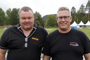Huvudarrangörerna av lastbilsträffen i Ramsele, Anders Sundin och Lars-Olov Magnusson.