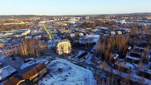 Stadsbilden under förändring. Foto: Simon Berglund
