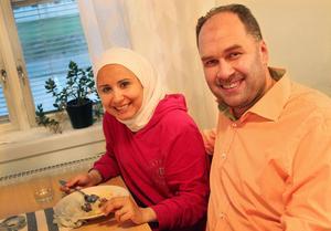Juliana och Mohamed Wasim.