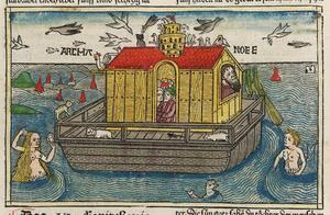 Noaks ark illustrerad i Anton Kobergers tyska bibel från 1483.