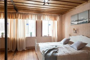 Ett av fyra sovrum.  Foto: Utsikten foto