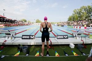 Förutsättningarna för SM-simning är inte tillräckligt bra i Västerås anser Riksidrottsförbundet som ännu inte hittat någon arrangör för SM-veckorna 2023 och 2024. Foto: Rickard Nilsson/TT