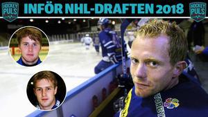 Henrik Smångs, med Johan Hedberg och Per-Ragnar Bergkvist infällda i bilden. Foto: Arkiv.