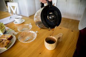 En ny kaffekåsa har ersatt den gamla.