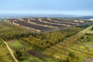 Så här kan Northvolts batterifabrik i Skellefeå komma att se ut. Tanken är att produktionen ska igång 2020. Bild: Northvolt