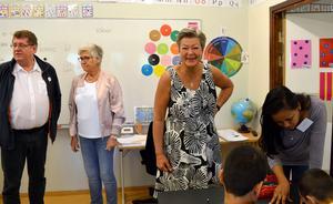 Ylva Johansson (S) arbetsmarknadsminister fick veta allt om Välkomstcenter dit alla nyanlända elever i Borlänge kommer för att studera eller få veta mer om det svenska samhället.
