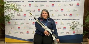 Ellinor Axelsson-Vaughn tog VM-silver i mixteam under world shooting parasport championship i Sydney, Australien.