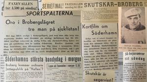 Bandypulsen var hög veckan inför den avgörande matchen mot Skutskär.  Söderhamnskuriren hårdbevakade händelserna och byggde upp stämningen. (Utdrag ur Söderhamnskuriren 4, 7 och 8 februari 1947).