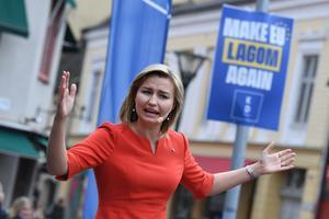 Kristdemokraterna har tidigare haft flest kvinnliga väljare. Men numera lockar Ebba Busch Thors parti främst männen. Foto: Johan Nilsson/TT