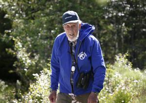 – Utvecklingen mot kalhyggen är fel väg, anser 91-årige Sven Jonsson, en av deltagarna vid inventeringen utanför Storsjö och Ljungdalen.