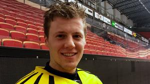 Linus Ölund var glad efter onsdagens träning.