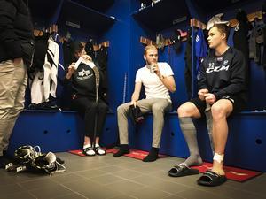 Viktor Hjelm, Adam Herou Löf och Jesper Öhrlund.