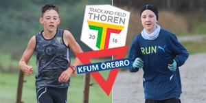 Wilhelm Bergentz och Noha Olsson är två av de talangfulla idrottarna som nu går tillbaka från Thoren Track and Field till KFUM Örebro. De båda var två av 38 aktiva över 13 år som lämnade KFUM för Thoren 2016. Nästan alla väljer nu att återvända. Foto: Jimmy Glinnerås, Axel Frisén