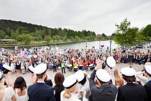 2014 togs studenterna emot på Marentrappan. Foto: Hampus Andersson
