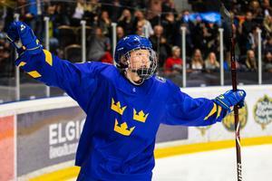 Simon Holmström firar 2–0. Foto: Johan Löf/BILDBYRÅN