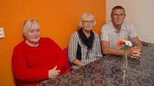 Barbro Von Walden, Margareta Dahlström och Ulf Kjellin från Centerpartiet i Skinnskatteberg var också på plats på Liberalernas valvaka.
