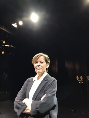 Bodil Malmberg spelar den nye kulturministern. Foto: Anders Ericsson