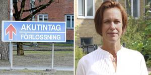 Karlskoga lasarett, förlossningen. Karin Sundin (S), ordförande i hälso- och sjukvårdsnämnden