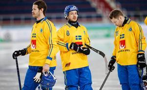 David Pizzoni Elfving, Hans Andersson och Linus Pettersson. Foto: Rikard Bäckman / Bandypuls.se / TT