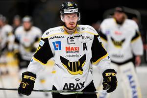 Eddie Davidsson, här i klädd Västeråströja. Nu spelandes för Mariestad.
