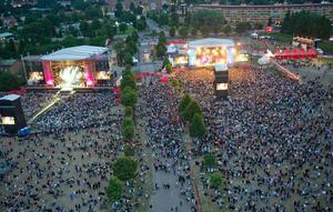 När Peace and Love var som störst, år 2011, så såldes 50 000 biljetter till festivalen. Två år senare, år 2013, konkursade festivalen och en nystart stod för dörren redan år 2014. Foto: Fredrik Sandberg/TT