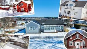 Ett montage av fem av husen som är med på
