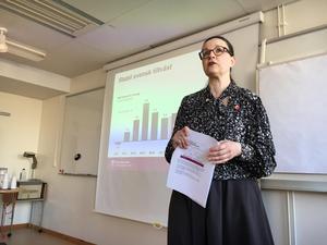 Anna Ekström (S) presenterade vårändringsbudgeten i Västerås