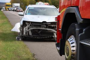 En del köer skapades efter olyckan utanför Axvall.