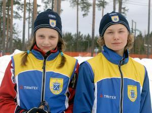 Stina Nilsson och Moras Daniel Wikberg, totalsegrare vid Kalle Anka cups riksfinaler 2007.  Foto: Rolf Johansson.
