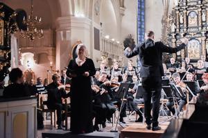 Sopranen Maria Keohane hade det första solopartiet i Mozarts 'Requiem' Bild Camilla Dal