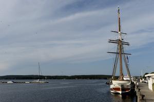 Fartyget Vega var på besök i Härnösand.