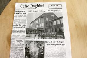 Gefle Dagblad skrev om invigningen.