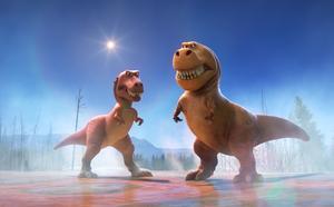 Leksaksdinosaurier hjälpte Jonna Bornemark och hennes dotter att ringa in filosofiska begrepp. (ur filmen Den goda dinosaurien).