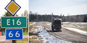 """""""Vi vill understryka att E16 är en Europaväg och ska behandlas som en sådan. Det är inte en tredjeklassens skogsväg"""" skriver Jan Bohman (S), Fredrik Jarl (C), Stina Munters (C) och Hans Unander (S). Foto: Arkiv/Fredrik Sandberg/TT"""