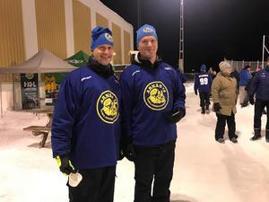 Jörgen Kallin och Peter Sundberg från arrangörsföreningen Arnäs IF.                                               Bild: Arnäs IF