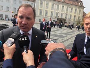 Stefan Löfven på veckans EU-toppmöte i rumänska Sibiu.